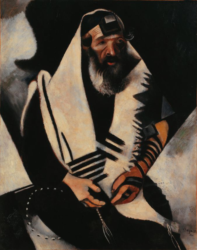 "Marc Chagall's ""Jew in Black and White."""