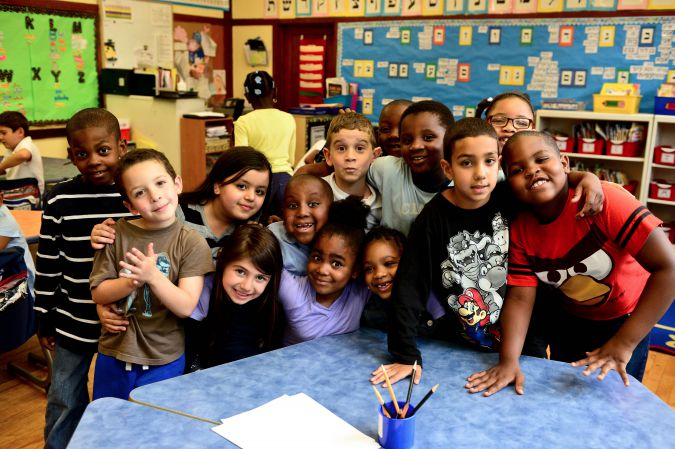 Students at the Hebrew Language Academy in Brooklyn.