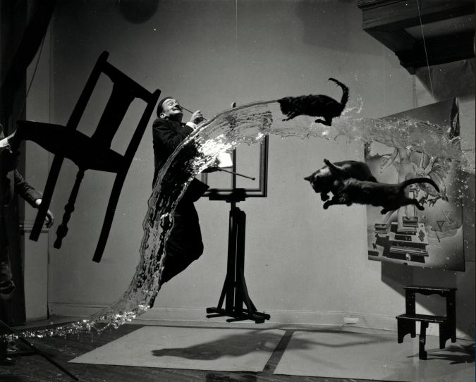 """Dali Atomicus,"" 1948, gelatin silver print, courtesy of the Library of Congress."