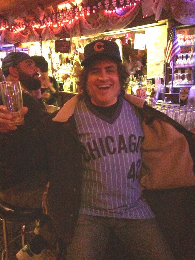 Relief Pitcher: The author Dan Epstein in his Bruce Sutter pajama-style jersey.