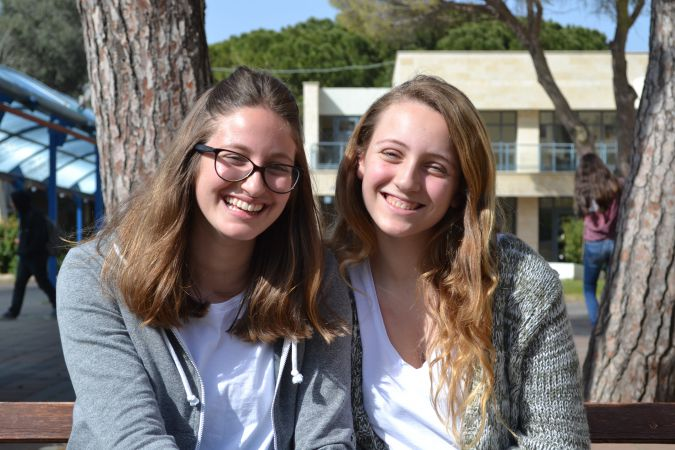 Sivan Kalika and Noa Stern are both 11th grade students at Reali.