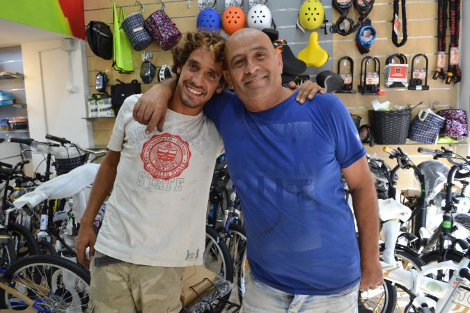 Yonatan and Nissim Bracha, the father-son pair who co-own Lee Bikes.