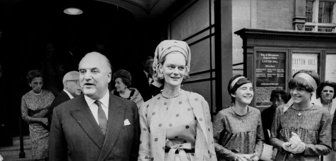 George Weidenfeld at his 1966 wedding to Sandra Mayer.