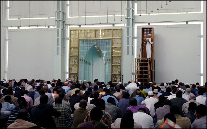 Call to Prayer: At Manhattan's 96th Street Mosque, the only security measure consists of hidden cameras.