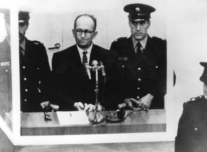 Soon To Be in a Glass Booth: Israeli agents captured Adolf Eichmann in 1960.