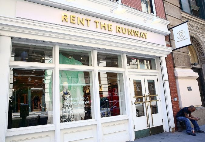 Facade of Rent the Runway's NYC brick-and-mortar location.
