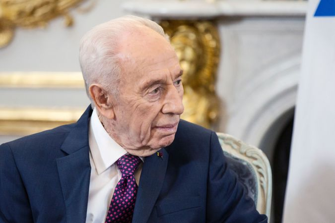 Shimon Peres in March 2016