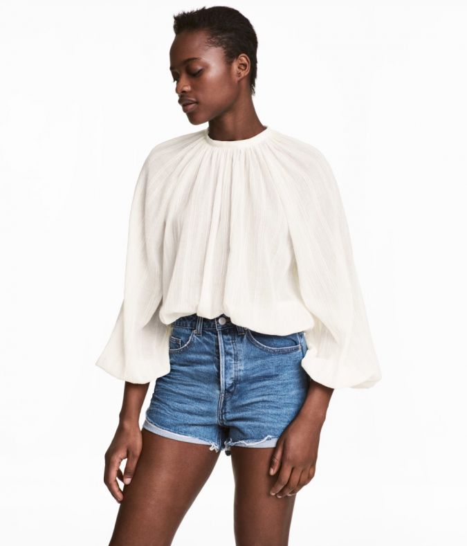H&M Balloon-Sleeve Blouse, $35, hm.com