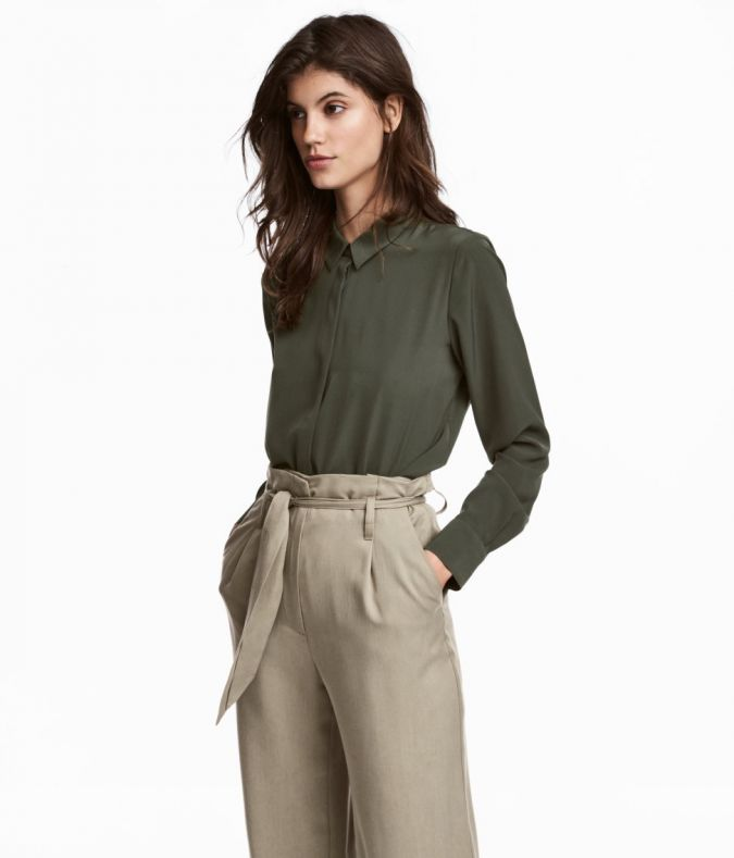 H&M Long-sleeved Blouse, $25, hm.com