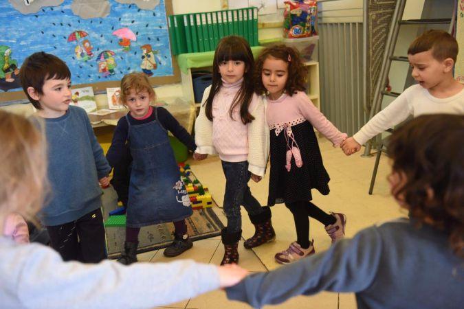 Children play at Jerusalem's Hand in Hand school.