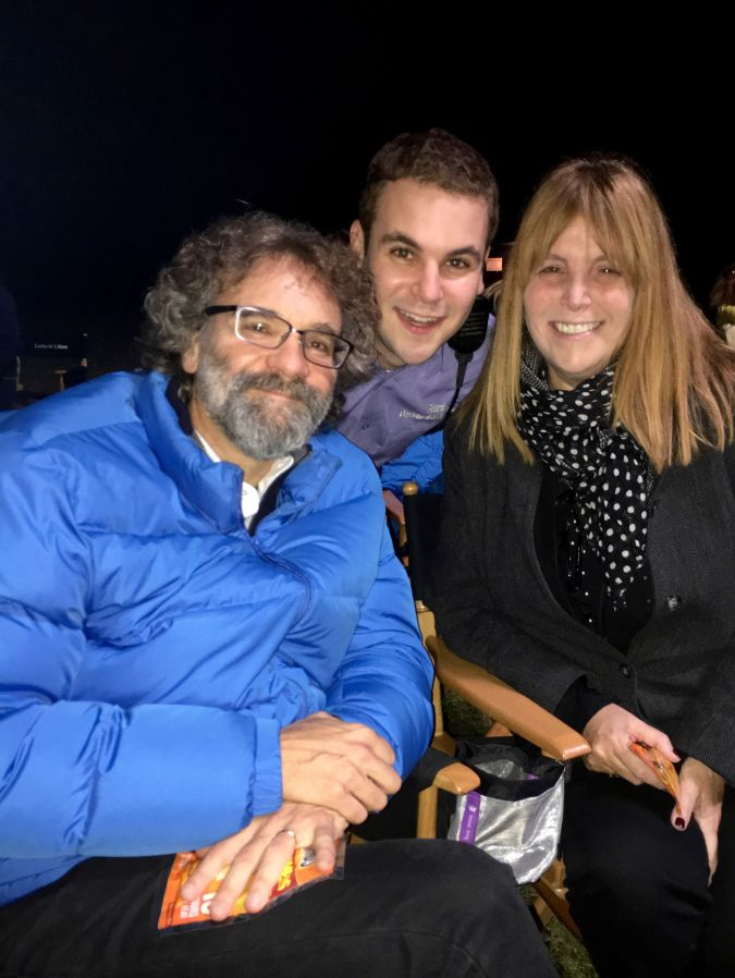 """Alan Aisenberg with his parents on the set of """"Orange is the New Black."""""""