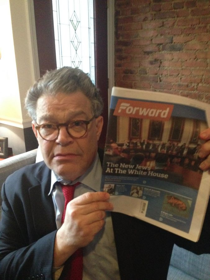 """Franken summons """"Sad Al"""" when he sees the headline """"The New Jews In The White House."""""""