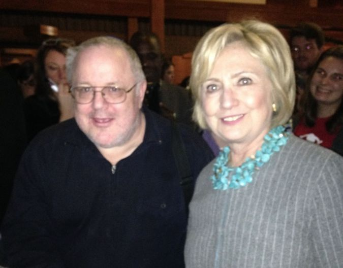 Marc with Hillary Clinton