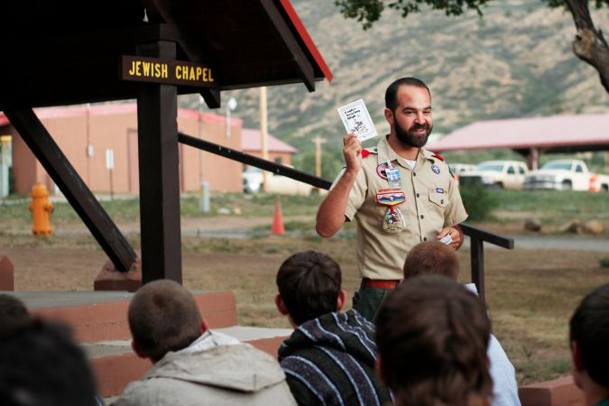 Rabbi Todd Zinn at the Philmont Scout Ranch Jewish Chapel