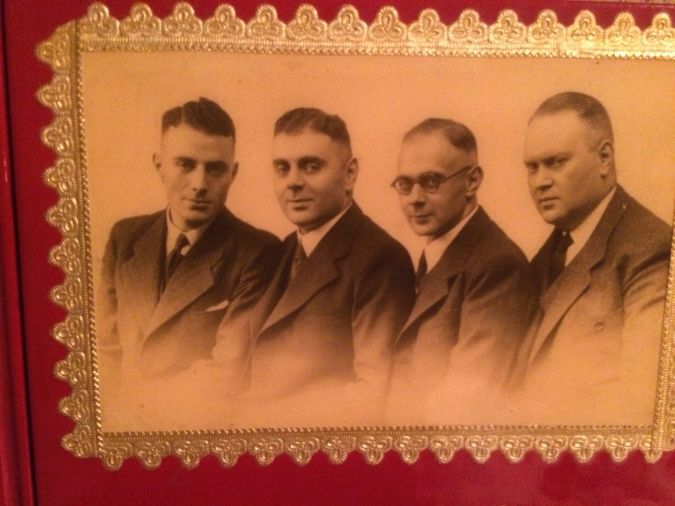 Ernest Lowenstein, far left, pictured in the 1930s with his three brothers.