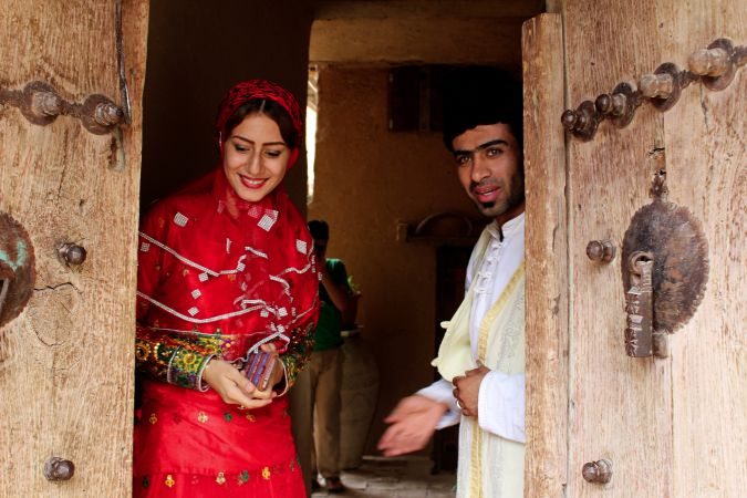Zahra Dehghanian and Mohammad Sadegh Namjoo greet guests at Saadat Abad 'non restaurant.'