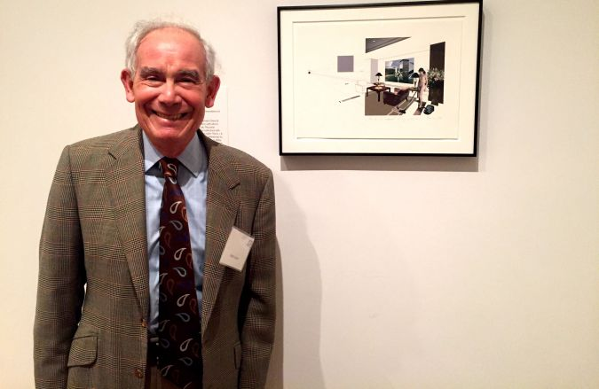 """The Collector: Keith Sachs at the exhibition """"Embracing the Contemporary: The Keith L. and Katherine Sachs Collection."""