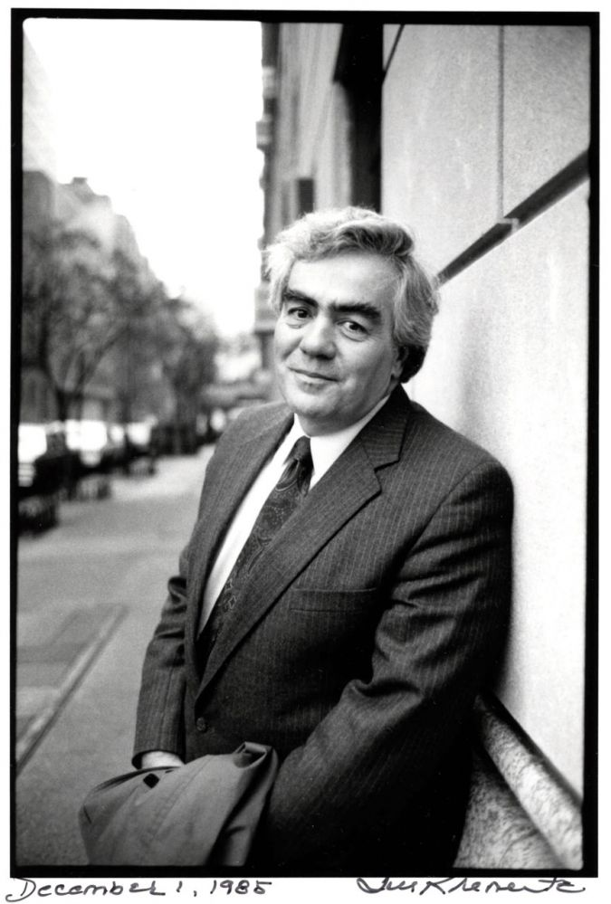Photo of Jimmy Breslin, December 1, 1985.