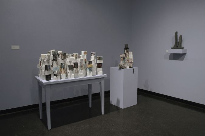 """A section of Tobi Kahn's 2011 installation """"Embodied Light: 9-11 in 2011"""" at New York's Educational Alliance."""
