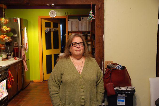 Leslie Wise, at home near the Chestnut Ridge development.
