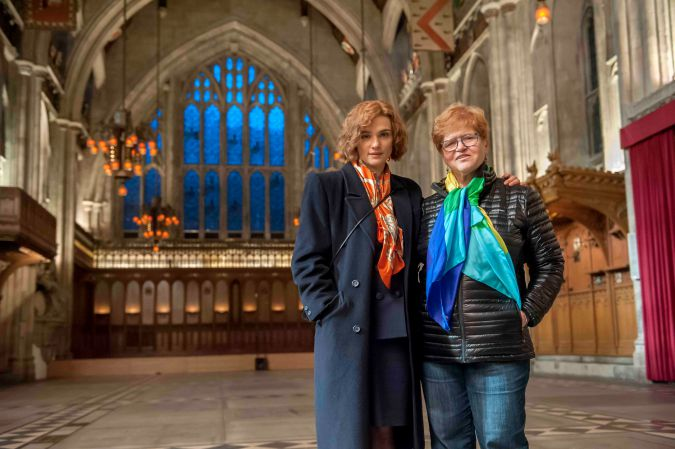 Actor and Muse: Rachel Weisz with Deborah Lipstadt, whom she portrays in the film 'Denial.'
