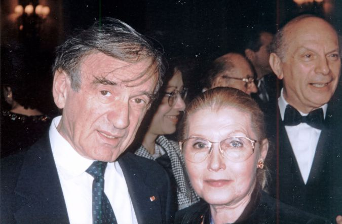 Leon with Elie Wiesel.