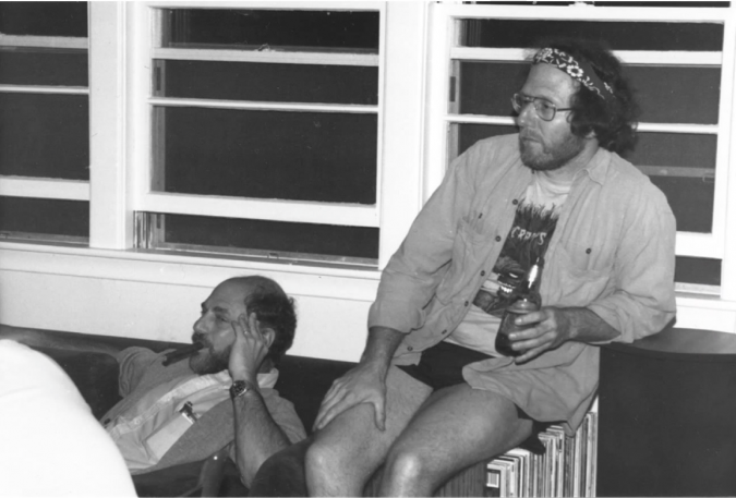 Michael Rosbash, left, and his collaborator Jeffrey Hall, right, in an undated photo from their early years at Brandeis.