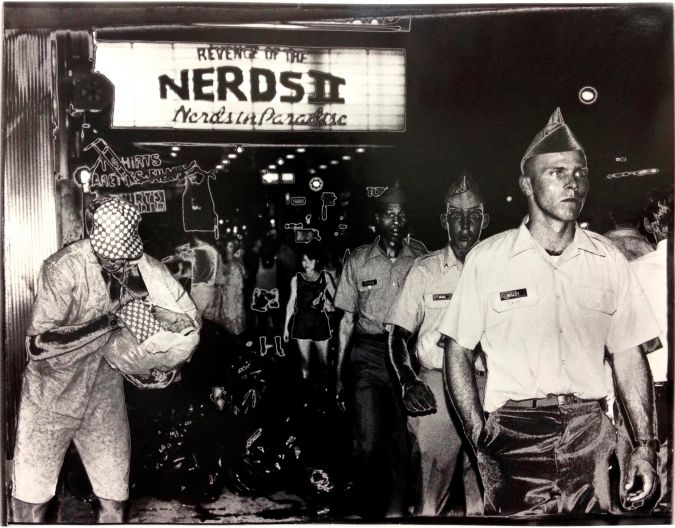 'Nerds in Paradise,' at Times Square, printed 1990. Copyright The Estate of Judy Seigel.