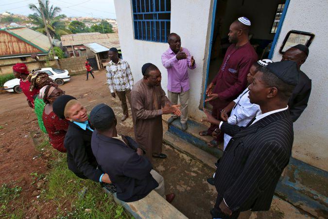 Community members, Ghihon Hebrews' Synagogue. Jikwoyi, Abuja, Nigeria. August 2015.
