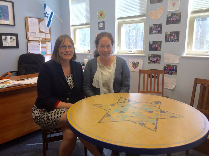 Lerner head of school Allison Oakes, left, with board president Hollis Gauss.