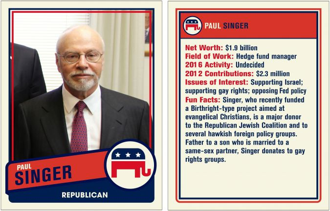 Paul Singer was once undecided about whom he would back in the GOP presidential race. No more.