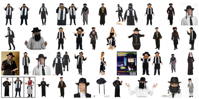 Results on Google Images for different rabbi costumes.