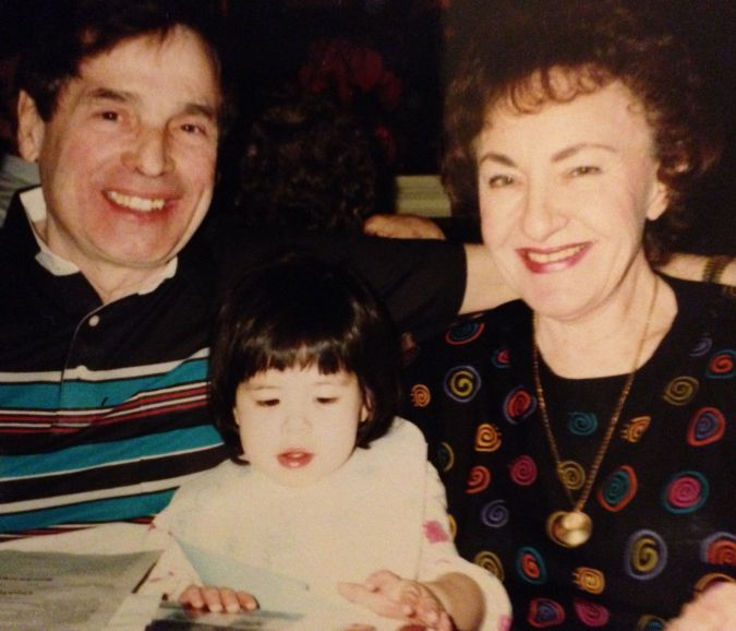 Rachel Gross as a child with her Jewish grandparents.