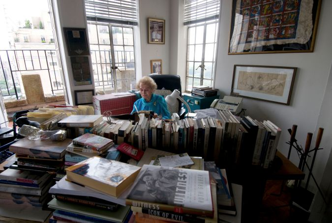 At Home: Ruth Gruber working from her apartment in 2009.