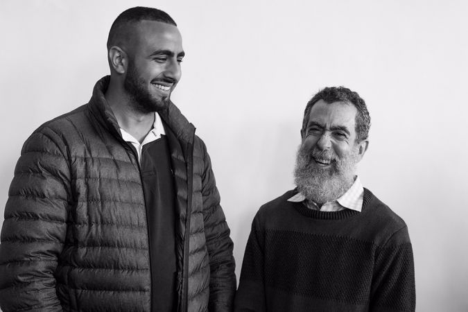 """""""There's so much happening in the world right now that's keeping people separate that I really feel that anything I can do and we can do as a community to start breaking down walls and being more inclusive is terribly important,"""" said Ira Rosenblum (right) a congregant at CBST.  Rosenblum stands with Muhammed Ali (left)."""