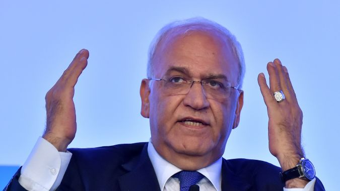 Palestinian official Saeb Erekat wished journalists the best for 2016, but the real prognosis is grim.