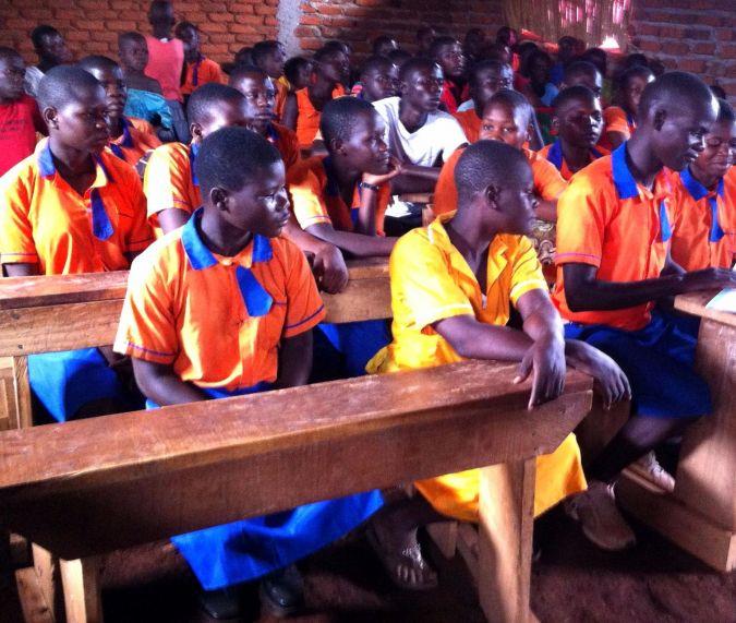 Children study in the school of the Abayudaya, the Jews of Uganda
