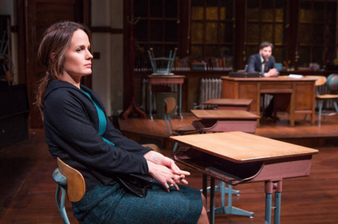 """Class Is in Session: Elizabeth Reaser and Josh Radnor in Richard Greenberg's """"The Babylon Line."""""""