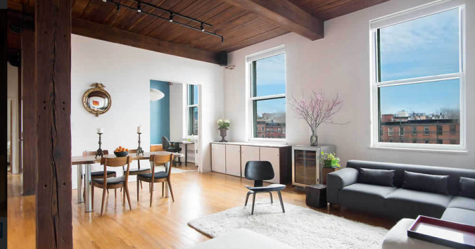 Dan Goldstein and husband Matt Lesner bought their sprawling Brooklyn apartment in 2013.