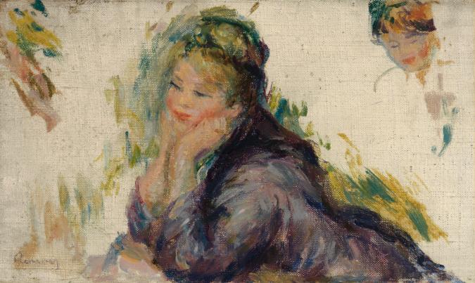"Renoir's ""Woman Leaning."""