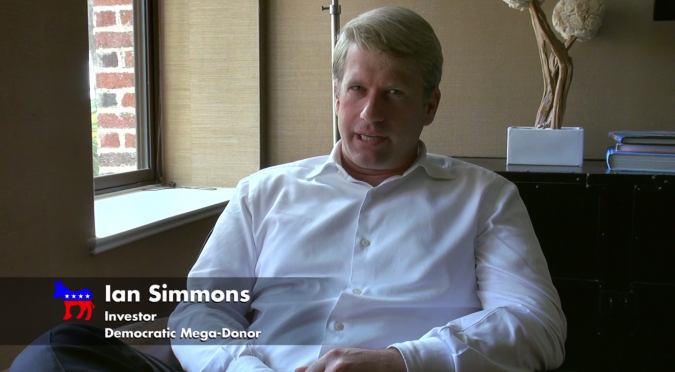 """Ian Simmons, the husband of philanthropist Liesel Pritzker Simmons, speaks about campaign finance in the HBO documentary """"Meet the Donors."""""""