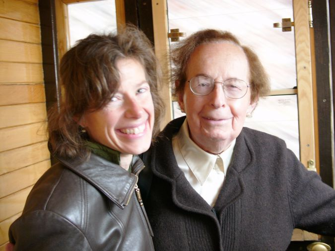 Author and Father: Susan Faludi with her father in Budapest.