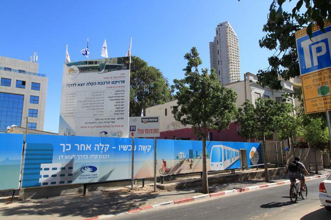 Work in Progress: The Tel Aviv light rail construction site on Yehuda Halevi Street, pictured in 2012.