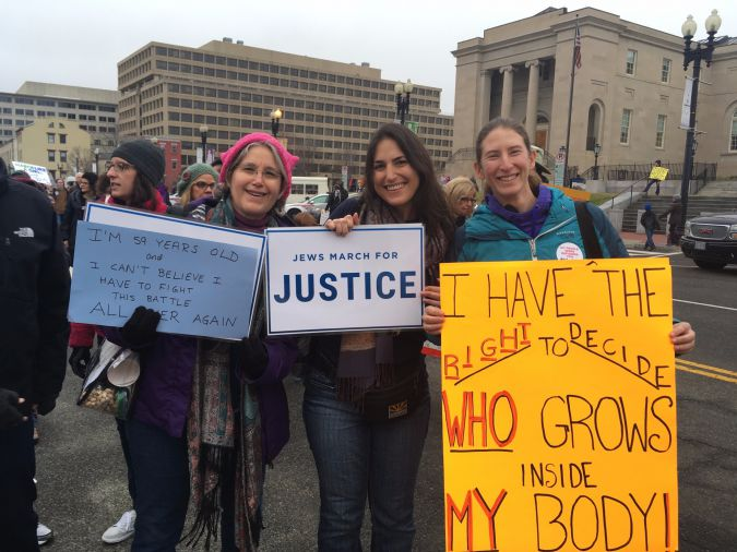 These Washington, D.C. protesters are particularly focused on abortion rights.