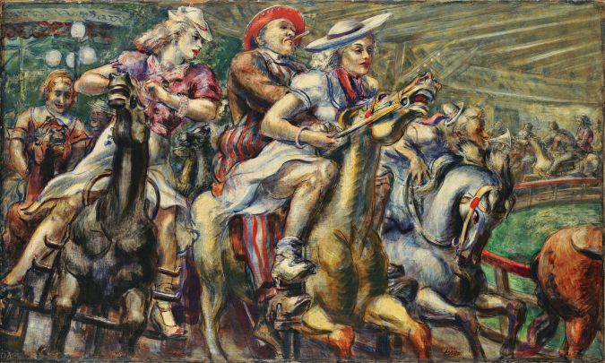 'Wooden Horses' by Reginald Marsh. Courtesy of the Brooklyn Museum.