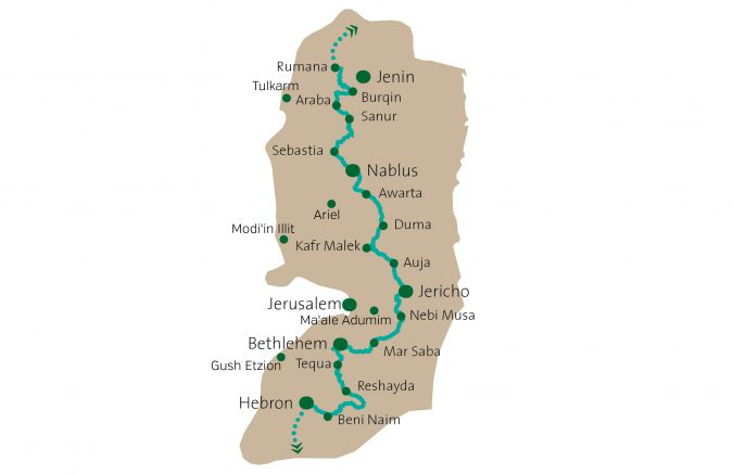 Our Routes:_ The hiking path wends its way through the villages of the West Bank._
