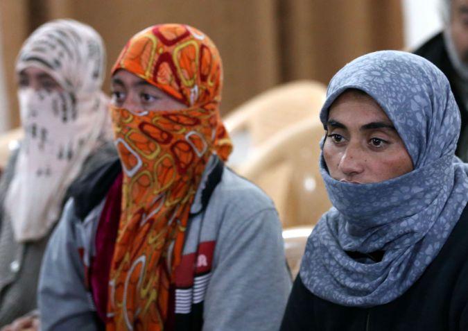 Yazidi women released by Islamic State.