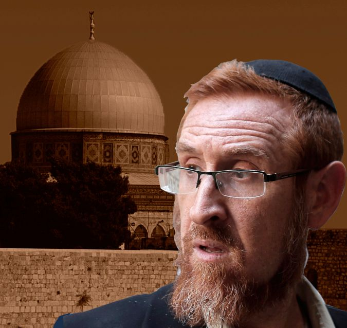 Temple Minded: Likud MK Yehuda Glick has championed the rights of Jews to pray on the Temple Mount, where the Dome of the Rock mosque stands.
