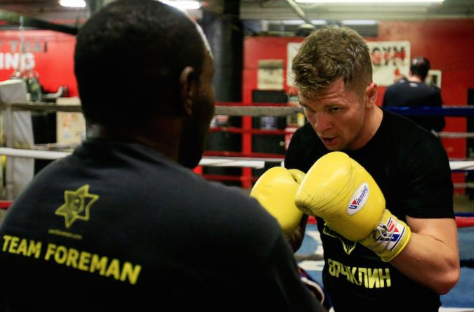 Yuri Foreman working out in Gleason's Gym in Brooklyn, Nov. 17, 2015.