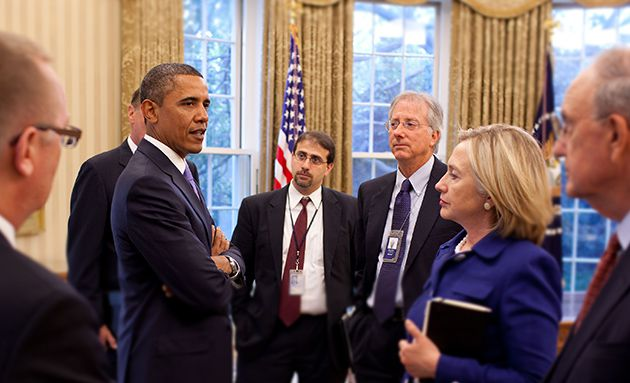 Liaison: Shapiro (right) has served President Obama on the National Security Council as senior director for the Middle East.